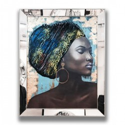 Decart Aynalı Tablo (Afrikalı Kız)